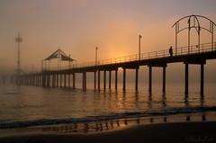 """Foggy Brighton"" (BALEDS) Tags: sunset mist beach nature fog brighton jetty adelaide southaustralia glenelg silhouttes"