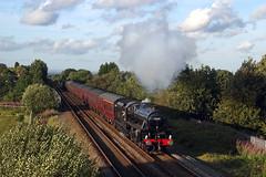 45305 at Garswood, 1Z44 Carlisle-Liverpool 23/07/11 (John Eyres) Tags: liverpool railtour carlisle m6 sthelens bryn wigan garswood 45305