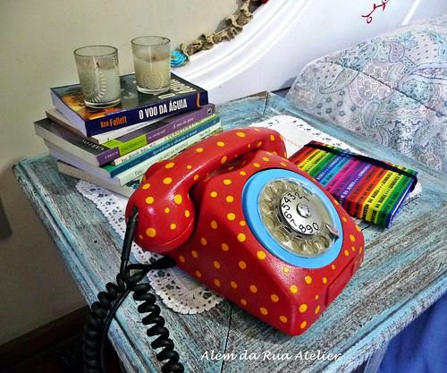 Vamos reciclar? Pintura de telefone antigo!!!