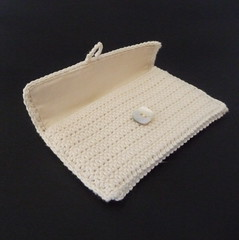 Cream purse crocheted with button (bycreativehands) Tags: kids shopping bag child adult handmade crochet gifts purse gift buy bags crocheted sell purses folksy