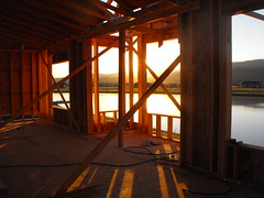 Shed some light (CaptainAmerica501) Tags: shadow sunlight house building water construction rays constructionsite