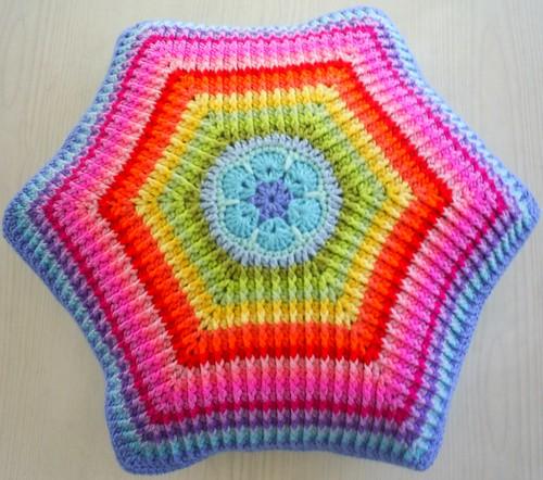 african flower rainbow cushion cover