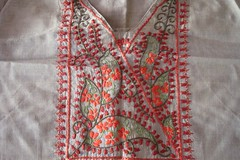 light green&copper tunic-1 (jizee66even this will pass away) Tags: embroidery paisley yoke owndesign tunic decorativestitch