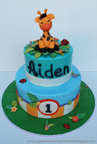 2011-07 Giraffe Themed 1st Birthday Cake