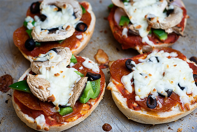 Week in the Life Thursday Bagel Pizzas