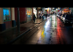 River of colour, Chinatown. (Andy. H) Tags: winter colour reflection wet night nikon melbourne tokina 1224mm d90 chintown