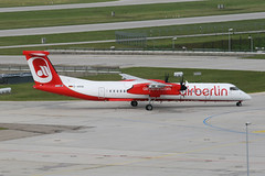 Air Berlin D-ABQE (LGW) (Howard_Pulling) Tags: summer germany munich bayern deutschland bavaria airport aircraft july german flughafen mound viewing muenchen dhc dehavilland airberlin lgw flug 2011 viewingarea dhc8 dhc8400 dabqe