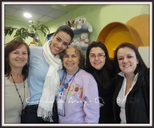 Neide, Paty, Aracy, Renata e Marli - sorriso das voluntárias by Cantinho da Aracy