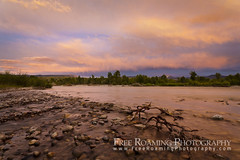 Gros Ventre River Sunset (Free Roaming Photography) Tags: trees sunset summer usa cloud mountain storm mountains west color reflection nature water weather rock clouds river landscape flow nationalpark rocks rocky jackson reflect western northamerica wyoming storms grandteton willows jacksonhole nationalgeographic sheepmountain grandtetonnationalpark willowtrees grosventre cottonwoodtrees nationalelkrefuge sleepingindian jacksonpeak grosventreriver