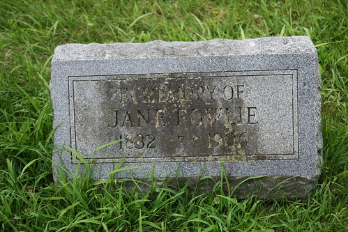 Tombstone of Jane Fowlie