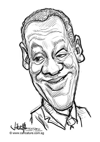 digital quick caricature sketch of Bill Cosby