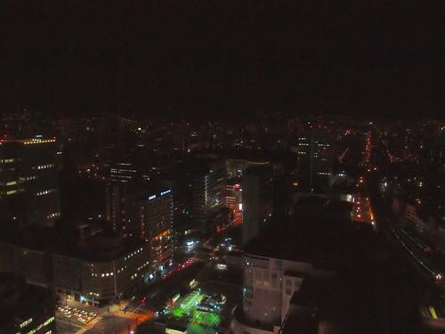 札幌 ホテルの窓から - 夜景