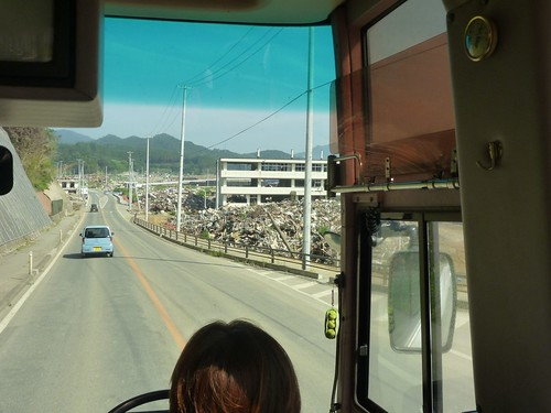 ボランティアバス 陸前高田行き Japan Quake Volunteer Bus to Rikuzentakata, Iwate pref.