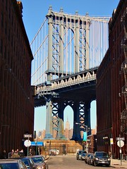 Washington Street, New York City, United States (Ferry Vermeer) Tags: street nyc newyorkcity travel bridge two newyork brooklyn wow one day unitedstates framed pillar dumbo clear frame manhattanbridge empirestatebuilding empirestate leone pictureframe estadosunidos sergioleone  washingtonstreet filmlocation  travelphotography tatsunis  onceuponatimeinamerica  vereinigtestaaten frentastaterna verenigdestaten onepillar  stanyzjednoczone  amerikaserikat       twofacades ferryvermeer  birleikdevletler