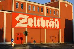 Zeltbräu (frankrolf) Tags: bier lettering blackletter hof udistinguisher zeltbräu