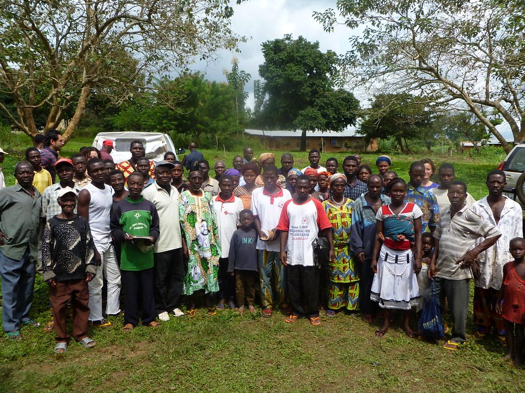 Rencontre d'un groupement de producteurs de café cacao Kougnohou Togo