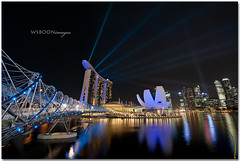 Night Laser Show @ Singapore Marina Bay Sands_1728 (wsboon) Tags: night river nikon singapore lasershow f28 singaporeriver 1424 marinabaysands d700 nikon1424mmf28