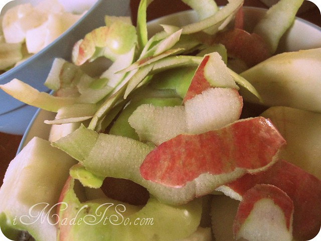 apple peels and cores