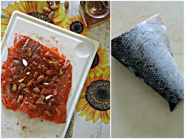 Rollé di Salmone con Gelatina di Insolia al Miele e Vaniglia, Nocciole e Albicocche su Letto di Finocchietto e Mandarino (4)