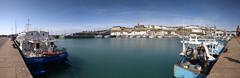 Harbour at Granville (DavidQuick) Tags: france port harbour granville lowtide fishingboats normandy stitchedpanorama
