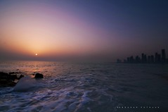 The sun is but a morning star~(EXPLORED) (puthoOr photOgraphy) Tags: crossprocess lightroom westbay d90 adobelightroom nikond90 lightroom3 tokinaaf1116mm amazingqatar tokina11 puthoor gettyimagehq
