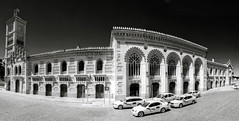toledo station b&w panorama (mariusz kluzniak) Tags: old bw panorama white black station spain europe sony historic toledo alpha espania 580 a580