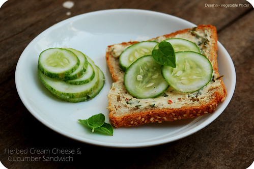 Cream Cheese & Cucumber Sandwich