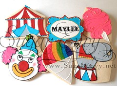 Circus / Carnival Cookie Selection (Sugar Envy) Tags: birthday carnival elephant circus clown tent cottoncandy shaveice snowcone favors babyelephant sugarenvycookies sugarenvy sugarenvynet