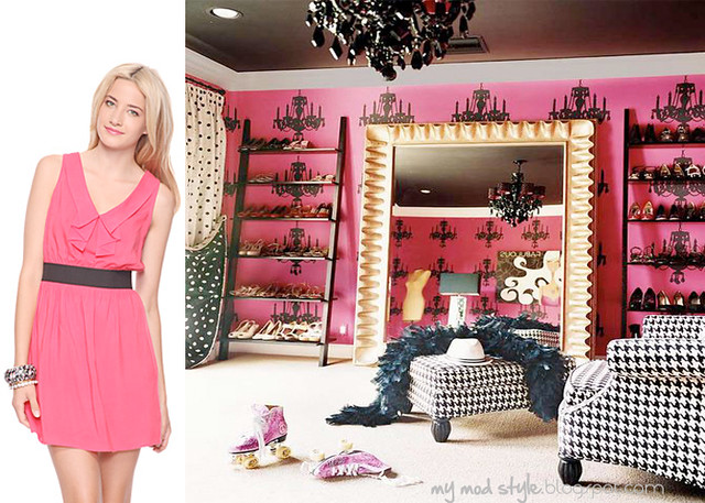 dress and room pinkblack