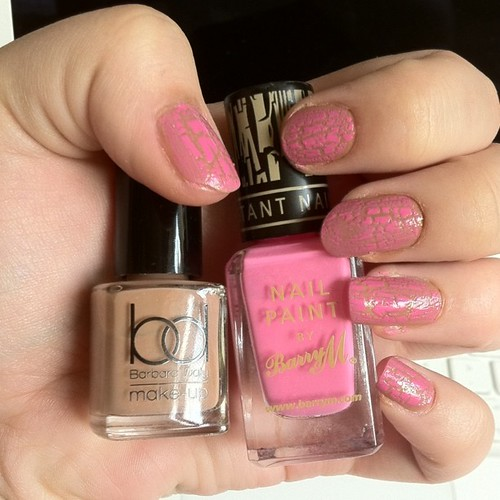 Barbara daly honeycomb with Barry m pink crackle!