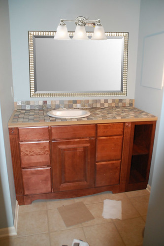 Bathroom Vanity Light Not Centered to center or not to center: my mom's great sink debate - diydiva
