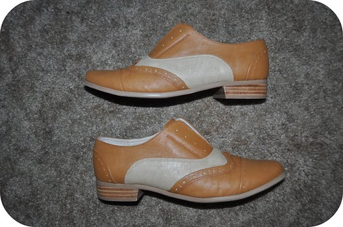 Tan and Beige Oxfords