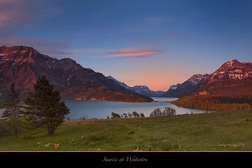 Sunrise at Waterton Lakes National Park- Alberta, Canada