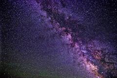 Starry Night (BlackRockBacon) Tags: blue black rock way long exposure purple desert pentax galaxy 1750 tamron milky k5