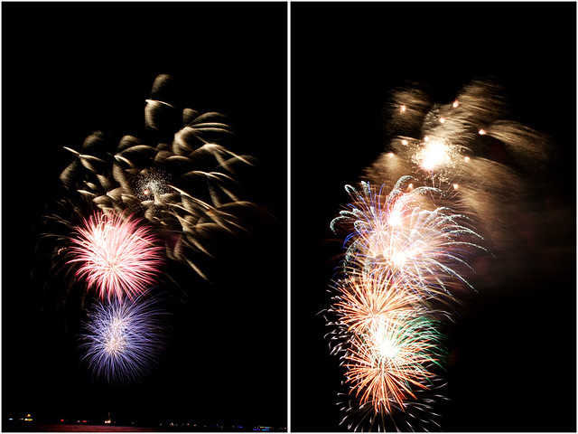 July 4th fireworks diptych 16