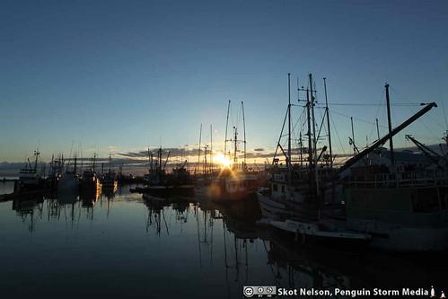 Steveston, British Columbia at Sunset
