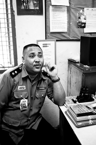 Mr Hashim, the station master