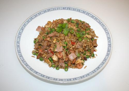 35 - Gebratener Reis mit Shrimps - Gericht fertig