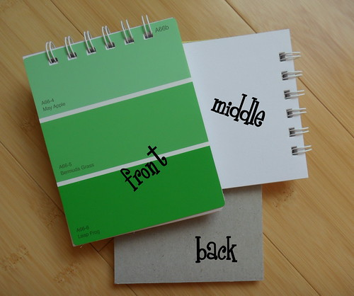 paintchip notebooks...