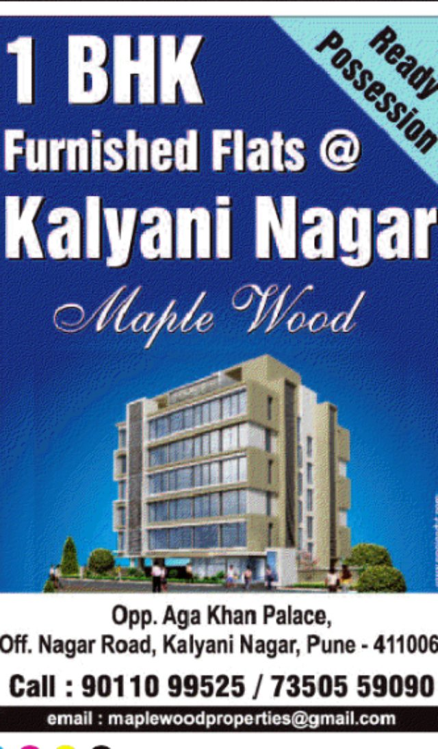 1 BHK Furnished Flats at Kalyani Nagar Pune (PT-9-7-11)