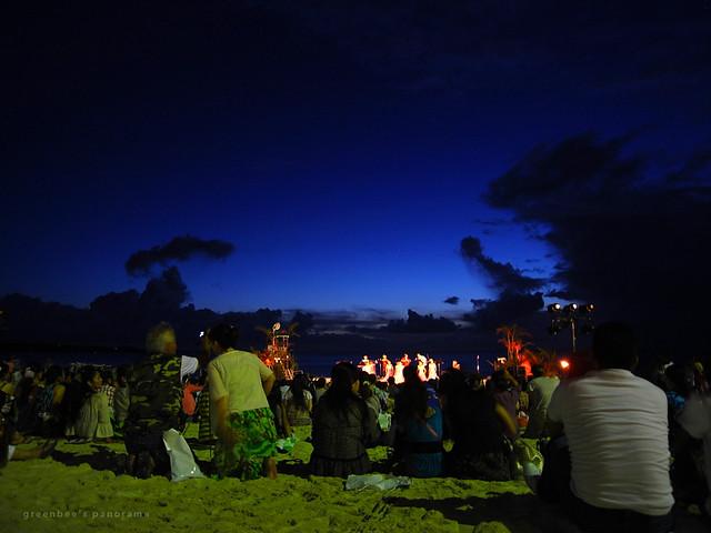 最終日夜のステージ7(ムーンビーチ・ルアウ2011)