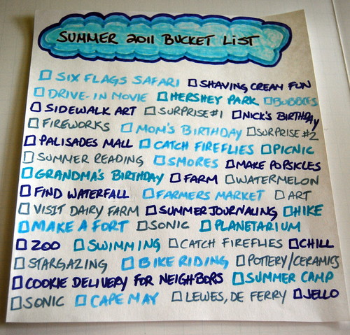 Summer Bucket List 2011