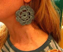 Little things make life beautiful! (sifis) Tags: life beautiful canon hand crochet jewelry athens yarn made greece cotton earrings s90 sakalak sakalakwool