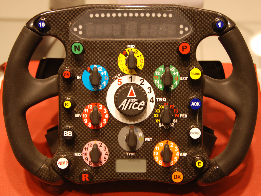 Ferrari steering wheel.