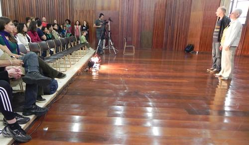 Silvana e Fuganti antes da apresentação by Silvana Abreu