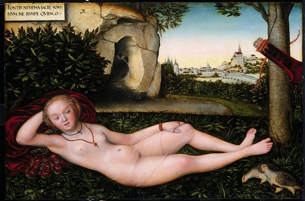 Lucas Cranach L'Ancien, La Nymphe de la Source (1537)