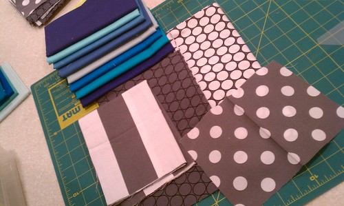 Fabrics for test block by bryanhousequilts
