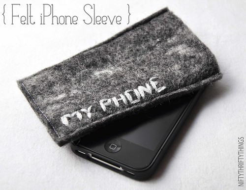 {felt iphone sleeve}