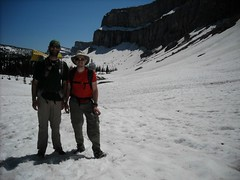 Kevin and I below the Chinese Wall - Bob Marshall Wilderness