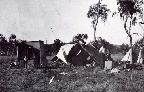 1921  Camp near Argyle Stn. showing observation station - KHS-2011-15-01-P2-D
